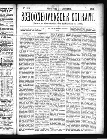 Schoonhovensche Courant 1892-12-21