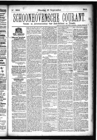 Schoonhovensche Courant 1915-09-28