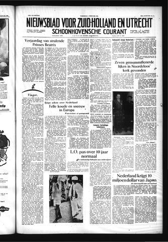 Schoonhovensche Courant 1956-02-01