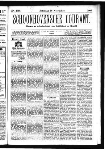 Schoonhovensche Courant 1905-11-18