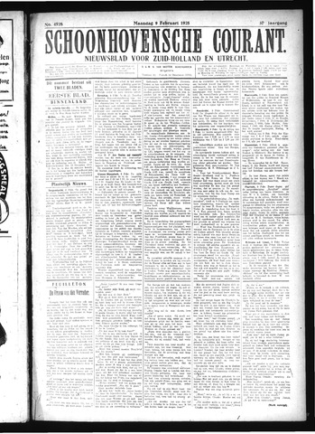 Schoonhovensche Courant 1925-02-09