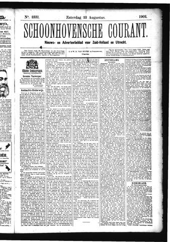 Schoonhovensche Courant 1902-08-23