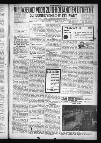 Schoonhovensche Courant 1931-10-02