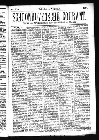 Schoonhovensche Courant 1906-08-04