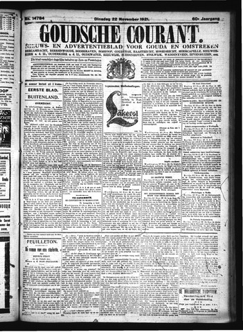Goudsche Courant 1921-11-22