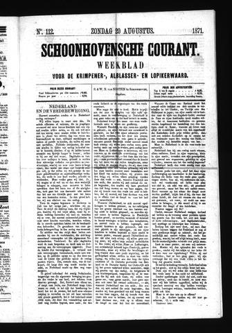 Schoonhovensche Courant 1871-08-20