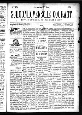 Schoonhovensche Courant 1891-06-20