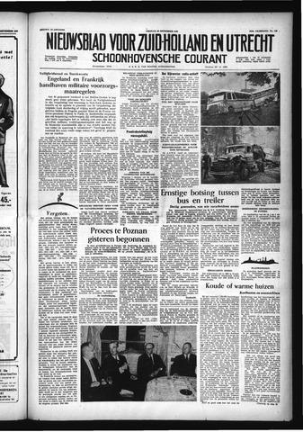 Schoonhovensche Courant 1956-09-28