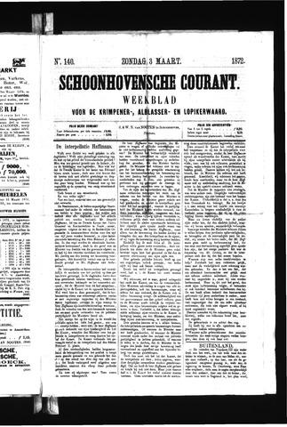 Schoonhovensche Courant 1872-03-03