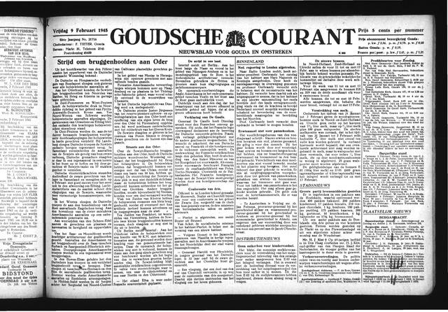 Goudsche Courant 1945-02-09