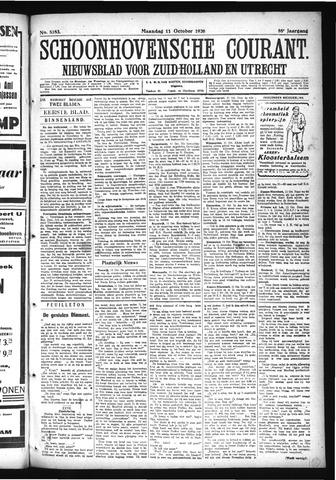 Schoonhovensche Courant 1926-10-11