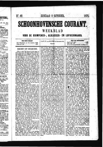 Schoonhovensche Courant 1870-10-09