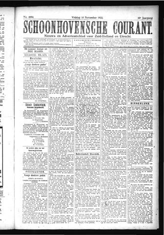 Schoonhovensche Courant 1922-11-10