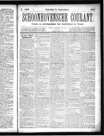 Schoonhovensche Courant 1912-09-14