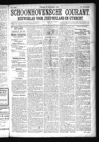 Schoonhovensche Courant 1925-09-18