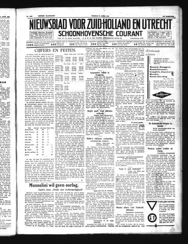 Schoonhovensche Courant 1939-04-21