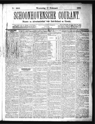 Schoonhovensche Courant 1909-02-17