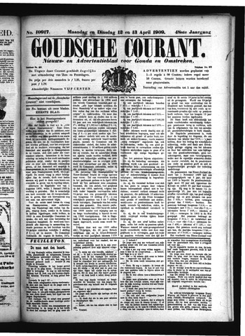 Goudsche Courant 1909-04-13