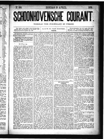 Schoonhovensche Courant 1876-04-23