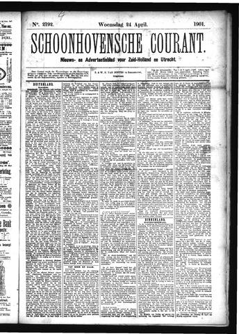 Schoonhovensche Courant 1901-04-24