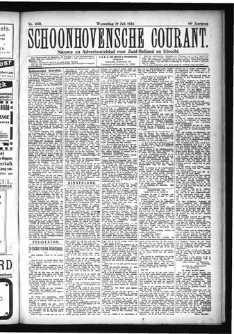 Schoonhovensche Courant 1922-07-19