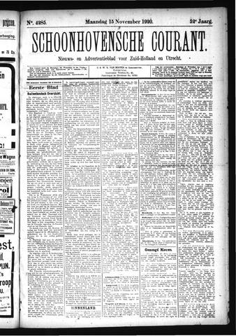 Schoonhovensche Courant 1920-11-15