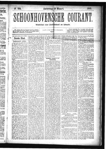 Schoonhovensche Courant 1885-03-28
