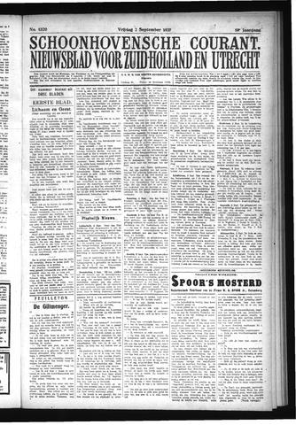 Schoonhovensche Courant 1927-09-02