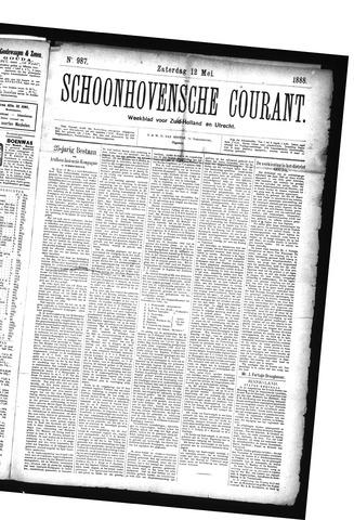 Schoonhovensche Courant 1888-05-12