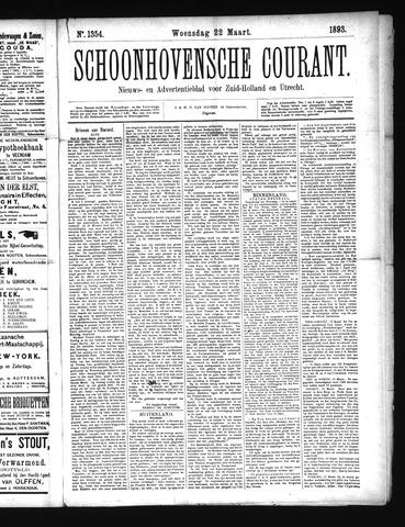 Schoonhovensche Courant 1893-03-22
