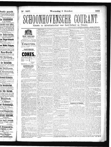 Schoonhovensche Courant 1913-10-08