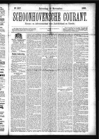 Schoonhovensche Courant 1892-11-12