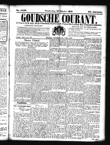 Goudsche Courant 1919-10-16
