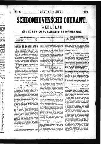 Schoonhovensche Courant 1870-06-05