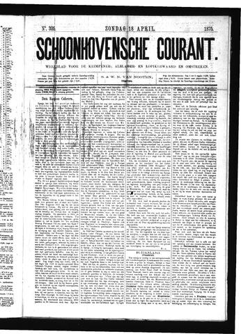 Schoonhovensche Courant 1875-04-18