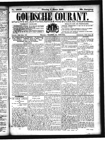 Goudsche Courant 1918-03-05