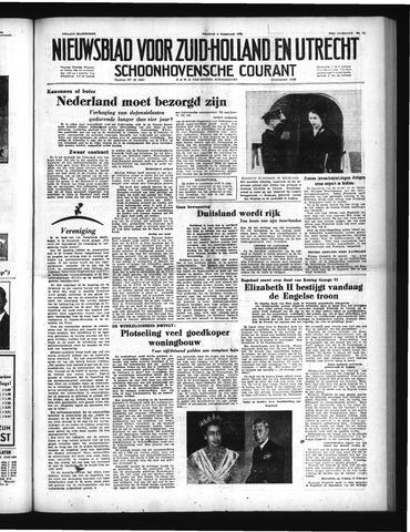 Schoonhovensche Courant 1952-02-08