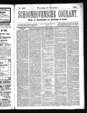 Schoonhovensche Courant 1903-11-25