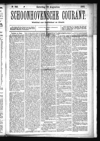 Schoonhovensche Courant 1885-08-29