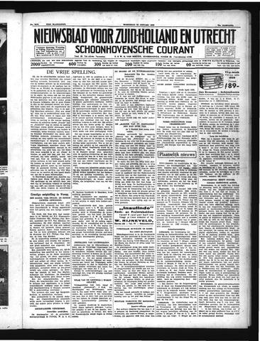Schoonhovensche Courant 1939-01-25