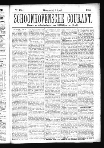 Schoonhovensche Courant 1895-04-03