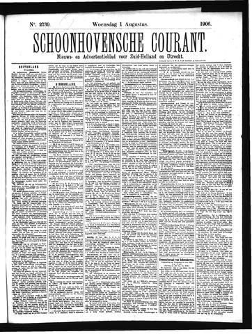 Schoonhovensche Courant 1906-08-01