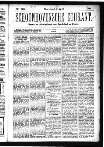 Schoonhovensche Courant 1902-04-09