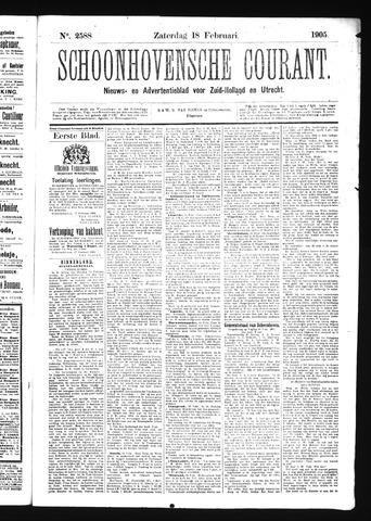 Schoonhovensche Courant 1905-02-18