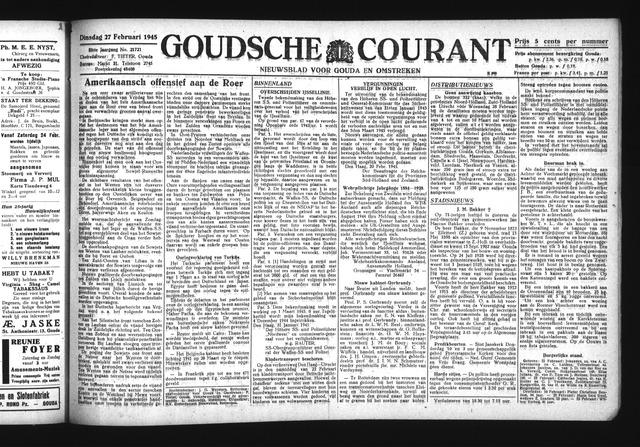 Goudsche Courant 1945-02-27