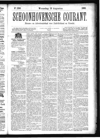 Schoonhovensche Courant 1892-08-10