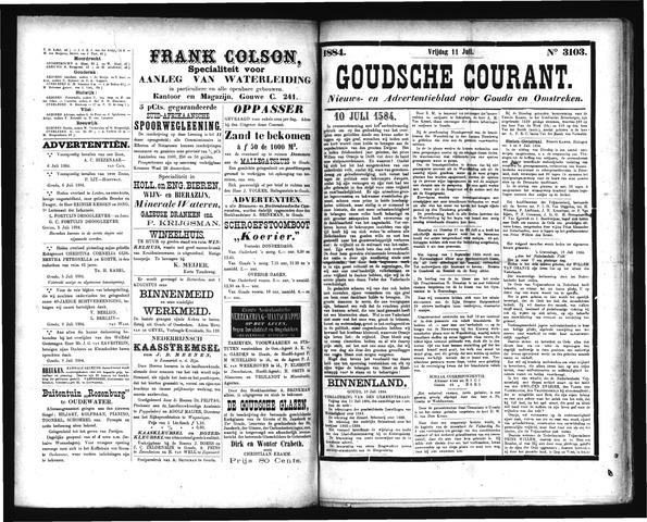 Goudsche Courant 1884-07-11
