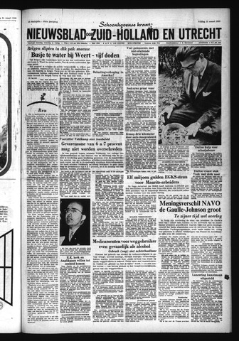 Schoonhovensche Courant 1966-03-25