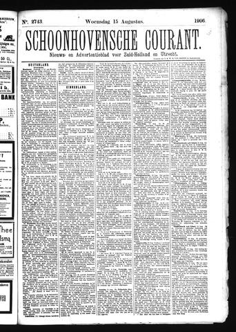Schoonhovensche Courant 1906-08-15