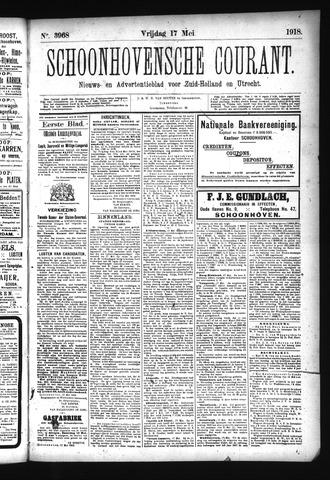 Schoonhovensche Courant 1918-05-17